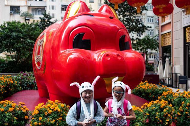 Tại Hồng Kông, không khí chào đón năm mới tưng bừng với nhiều hoạt động.