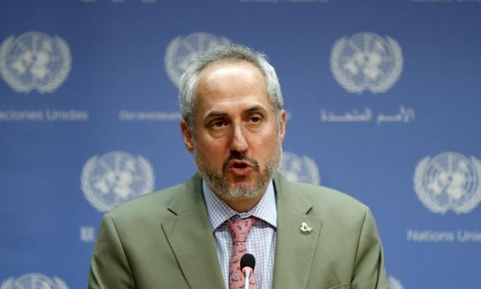 Ông Stephane Dujarric, phát ngôn viên của Tổng thư ký Liên Hợp Quốc. (Ảnh:Reuters).