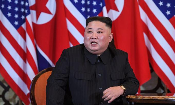 Chủ tịch Triều Tiên Kim Jong-un tại cuộc họp thượng đỉnh lần hai.Ảnh:AFP.