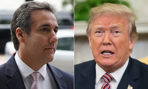 Tổng thống Mỹ Donald Trump (phải) và cựu luật sư Michael Cohen. Ảnh:AFP.