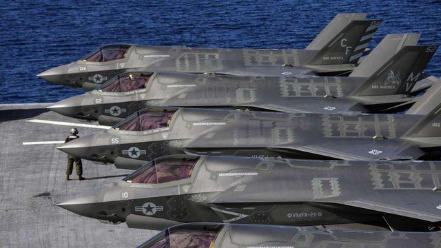 Các máy bay F-35B Lightning II do tập đoàn Lockheed Martin sản xuất (Ảnh: Los Angeles Times)
