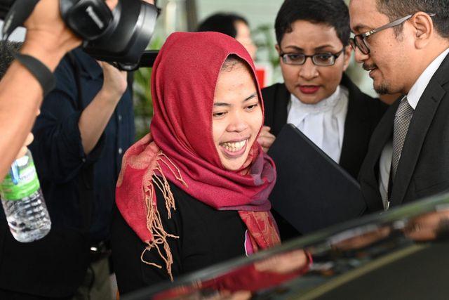 Siti Aisyah được thả tự do. (Ảnh: AFP)
