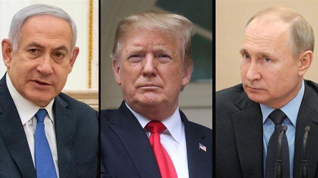 (Từ trái sang phải) Thủ tướng Israel Benjamin Netanyahu, Tổng thống Mỹ Donald Trump và Tổng thống Nga Vladimir Putin (Ảnh: Reuters)