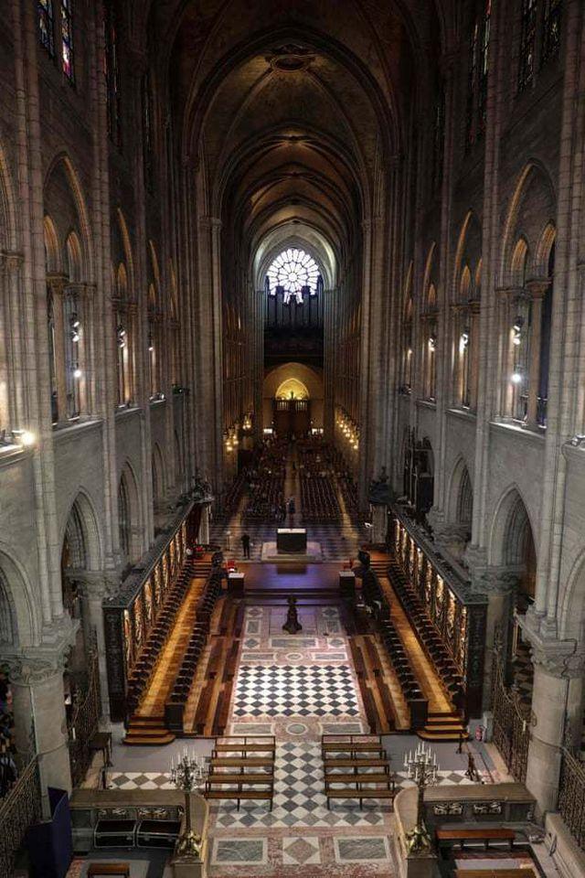 Kiến trúc bên trong nhà thờ. (Ảnh: AFP)