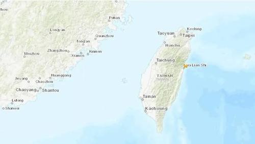 Khu vực xảy ra trận động đất hôm nay.