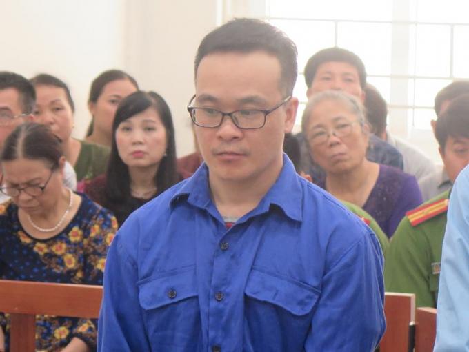 Bị cáo Phong tại tòa.