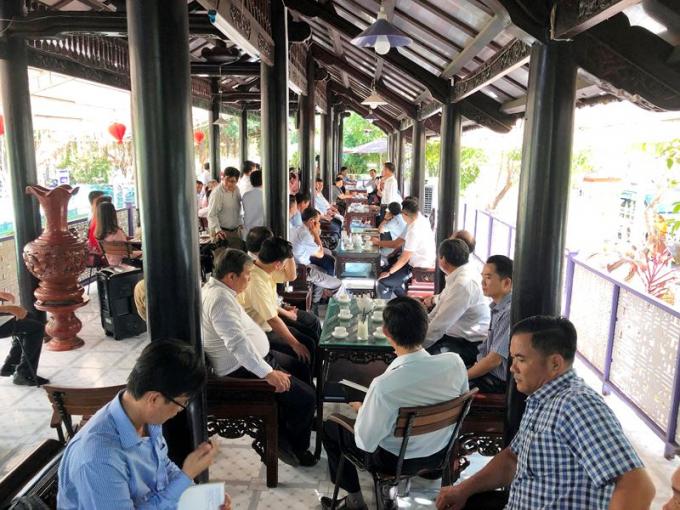 """Buổi """"Cà phê doanh nhân"""" thu hút đông đảo các doanh nghiệp trên địa bàn tỉnh tham gia"""