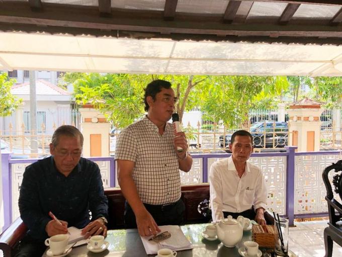 Chủ tịch UBND tỉnh Bạc Liêu - ông Dương Thành Trung phát biểu tại buổi gặp gỡ.