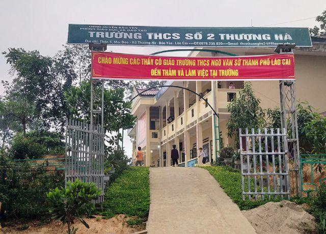 Trường THCS số 2 Thượng Hà - nơi xảy ra vụ thầy giáo bị tố làm nữ sinh có bầu.