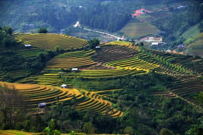 La Pán Tẩn không hổ danh là một trong ba địa phương của huyện Mù Cang Chải, nơi mà ruộng bậc thang - công trình kiến trúc nghệ thuật mang đầy tính sáng tạo của đồng bào Mông sinh sống trên mảnh đất này - đã được Bộ Văn hóa,Thể thao và Du lịch xếp hạng Di tích danh thắng cấp Quốc gia từ cuối năm 2007.