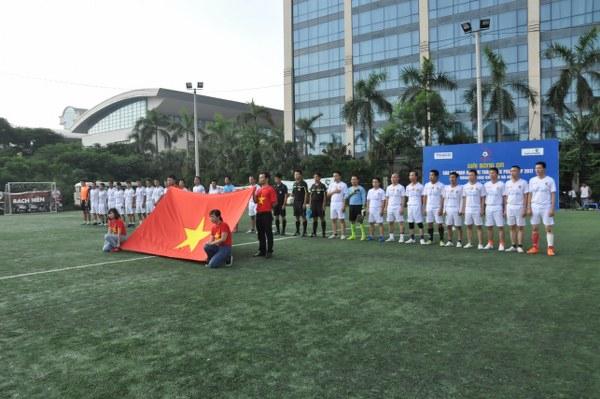 Lễ chào cờ trước trận Chung kết Press Cup 2017 khu vực Hà Nội.