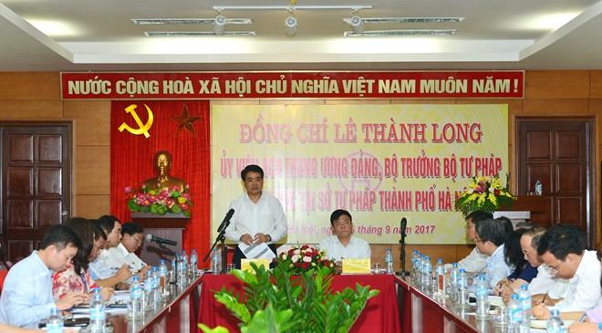 Chủ tịch Nguyễn Đức Chung phát biểu tại buổi làm việc