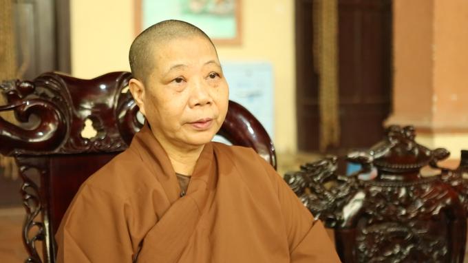 Nhà sư Thích Diệu Nhẫn - Trụ trì Chùa Cần Linh.