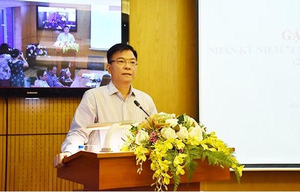 Bộ trưởng Lê Thành Long gửi lời tri ân tới các công chức, viên chức là thương binh, con liệt sỹ đang công tác tại Bộ Tư pháp.