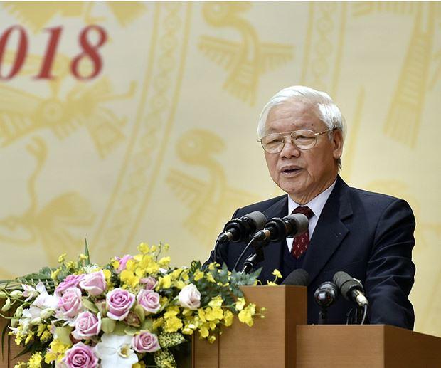 Tổng Bí thư, Chủ tịch nước Nguyễn Phú Trọng phát biểu chỉ đạo tại Hội nghị