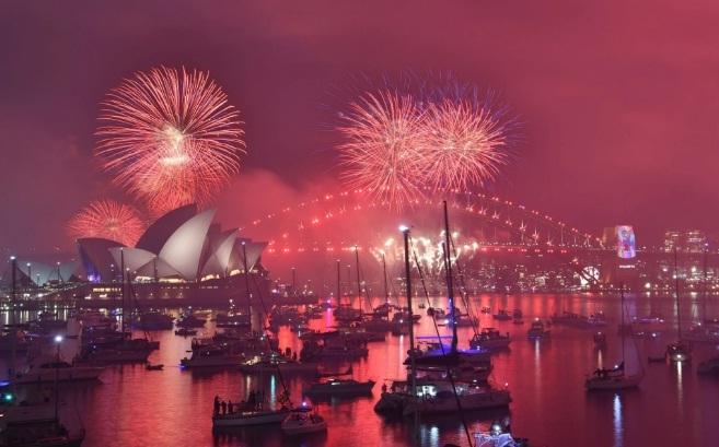 Tại Sydney 8,5 tấn pháo hoa đã được dùng để chào đón năm mới 2019. (Ảnh: Guardian)