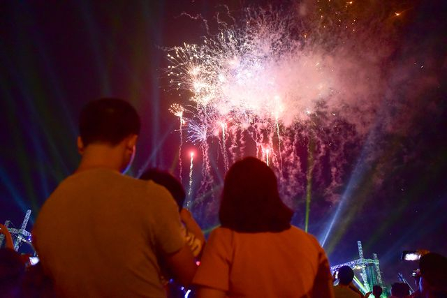Mãn nhãn với màn pháo hoa trong đêm khai hội Đền Hùng 2019