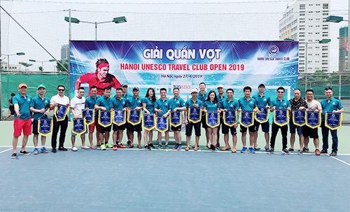 Giải Tennis Cup Hanoi Unesco Travel Club Open 2019 khai mạc sáng 27/4 tại cụm thể thao Cát Quý, đường Phạm Văn Bạch, quận Nam Từ Liêm, Hà Nội.