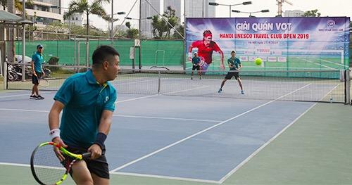 Giải Tennis Cup Hanoi Unesco Travel Club Open 2019 gồm 12 đội được chia làm 3 bảng, với tinh thần thể thao trung thực, cao thượng và hết mình, mang đến cho người xem những giây phút hồi hộp, đầy hứng khởi.
