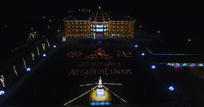 quảng trường Viên Quang trong khuôn viên Học viện Phật giáo VN tại Hà Nội