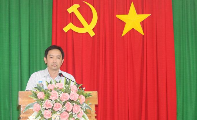 Ông Nguyễn Tiến Dũng – Giám đốc Sở GTVT TP.Cần Thơ  phát biểu chỉ đạo tại buổi họp.