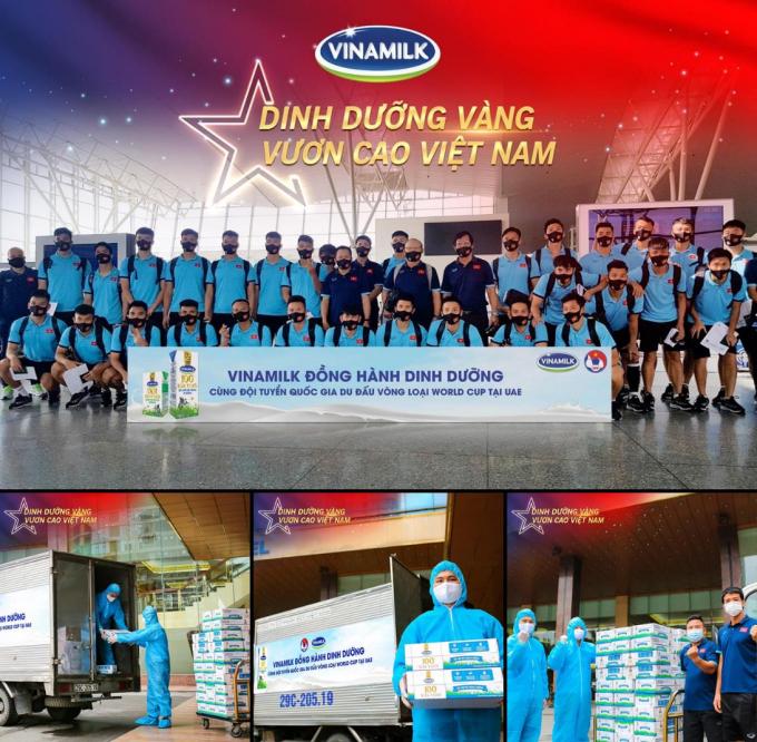 Vinamilk tự hào mang đến nguồn dinh dưỡng vàng đồng hành cùng đội tuyển quốc gia du đấu vòng loại World Cup tại UAE