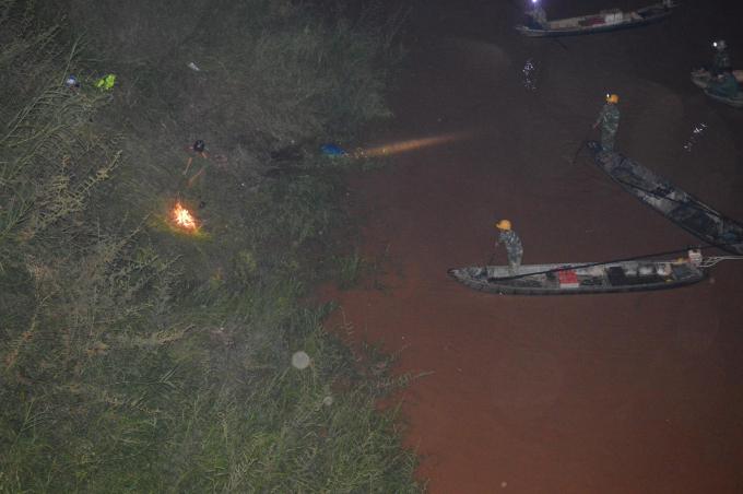 Hiện trường nơi phát hiện thi thể nạn nhân trên sông Pô Kô, huyện Đắk Tô, Kon Tum