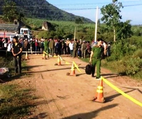 Nơi đối tượng Nguyễn Văn Thu giấu xác nạn nhân.