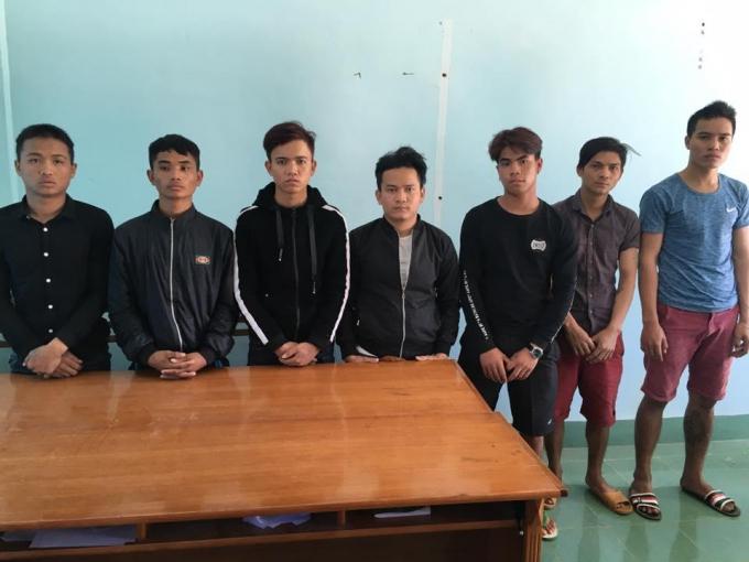 Các đối tượng tại Công an tỉnh Kon Tum.