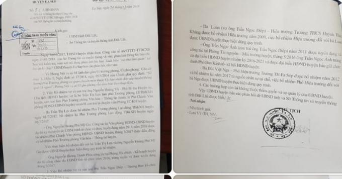 Văn bản 51/UBND-NV ngày 29/1 của UBND huyện Ea Súp phản hồ thông tin báo chí đã đăng tải