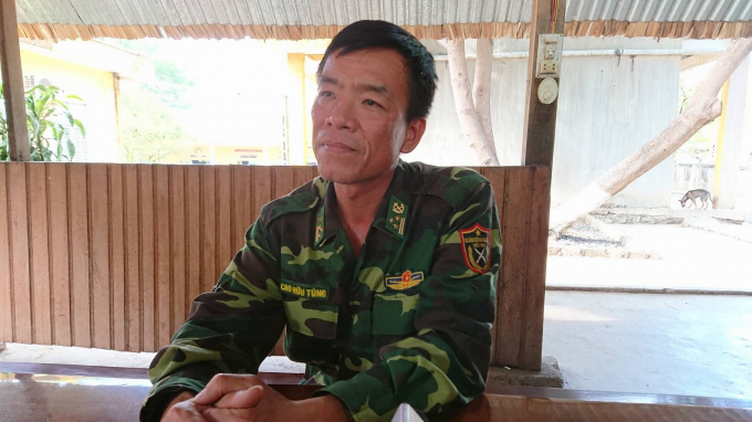 Thượng tá Cao Hữu Tùng- Đồn trưởng Đồn biên phòng 747, một trong 4 cán bộ bị đình chỉ công tác