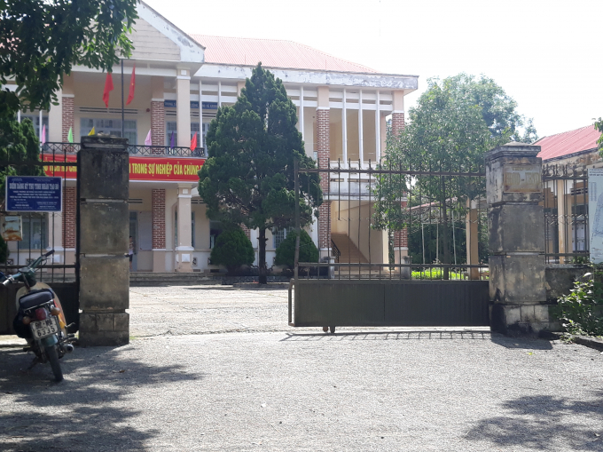 Trụ sở UBND xã Kroong, thành phố Kon Tum nơi ông Nguyễn Thành Đức làm Chủ tịch UBND xã.