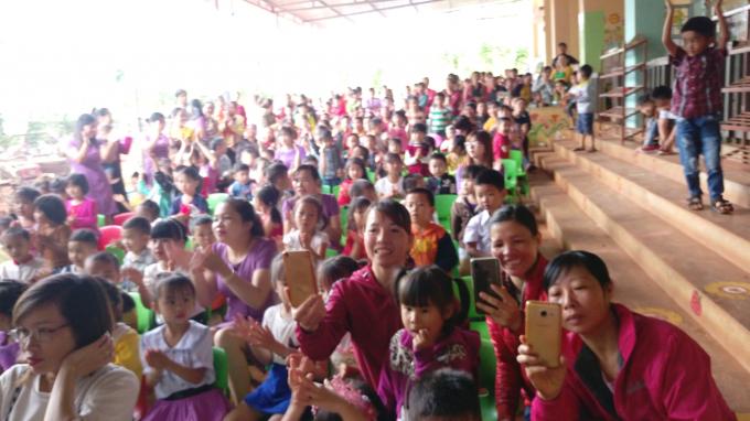 Học sinh trường Mầm Non Hoa Mai, xã Thuận Hạnh, huyện Đắk Song, Đắk Nông