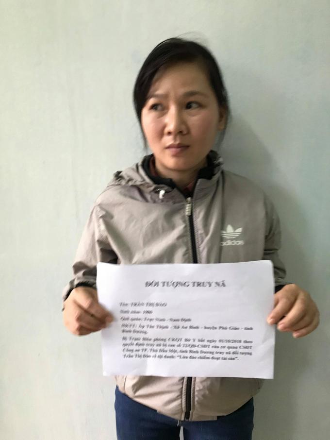 Đối tượng Trần Thị Đào bị bắt giữ tại cửa khẩu Bờ Y, Kon Tum.