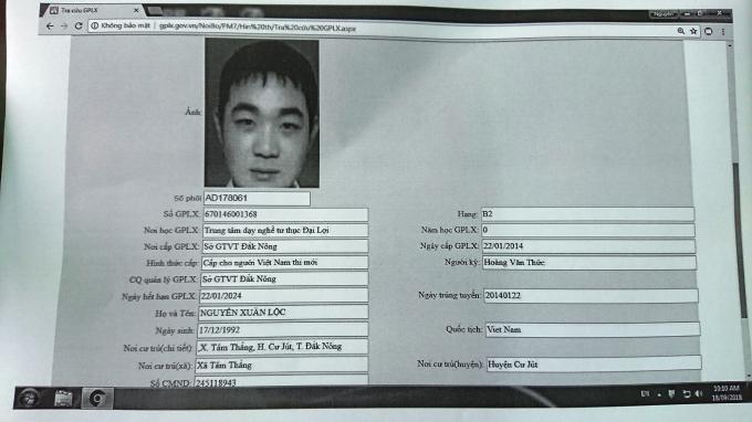Nguyễn Xuân Lộc bị tâm thần vẫn được cấp bằng lái B2 vào năm 2014