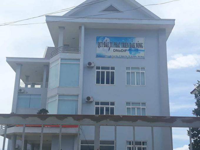 Trự sở của Quỹđầu tư phát triển tỉnhĐắk Nông