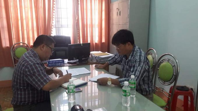 ông Nguyễn Minh Thắng- Cán bộđịa chính xã Ea Kly cũng không biết lôđất tranh chấp nằmởđâu.