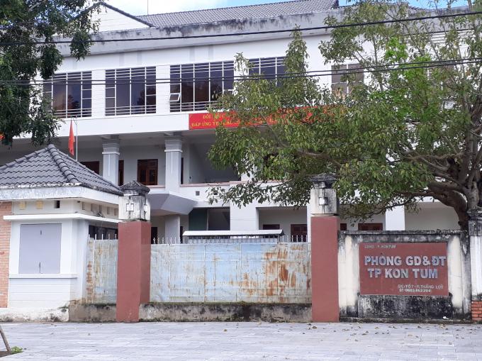 Phòng Giáo dục và Đào tạo TP Kon Tum nơi quản lý trực tiếp trường Mầm non Tuổi Hồng