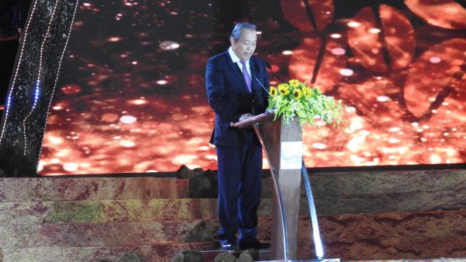 Phó Thủ tướng Thường trực Chính phủ Trương Hòa Bình phát biểu tại lễ khai mạc.