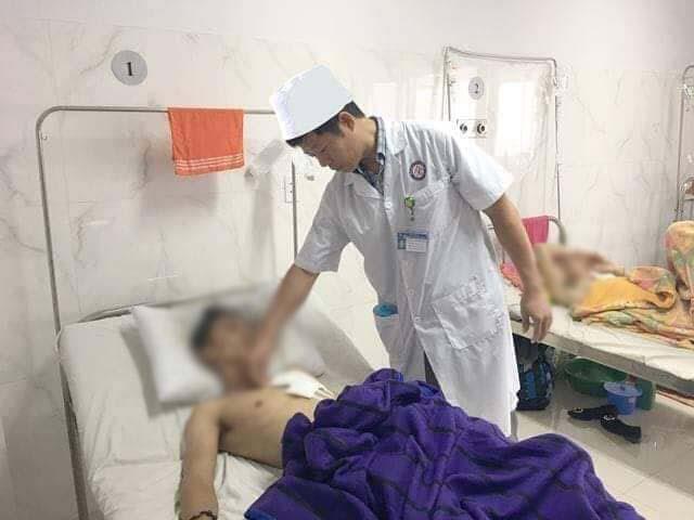 Bệnh nhân sau khi được phẫu thuật, cứu sống kịp thời.