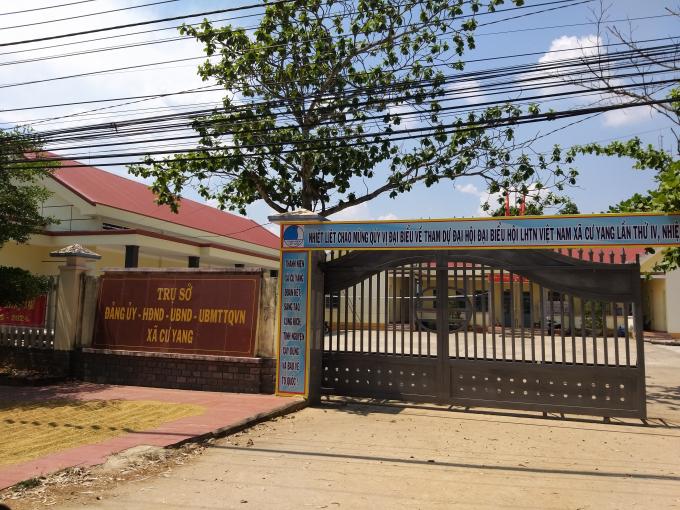 UBND xã Cư Giang, Ea Kar chỉ cách nơi nút cát trái phép và bãi tập kết chưa đầy 1 km