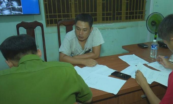 Nguyễn Minh Hải tại cơ quan điều tra.