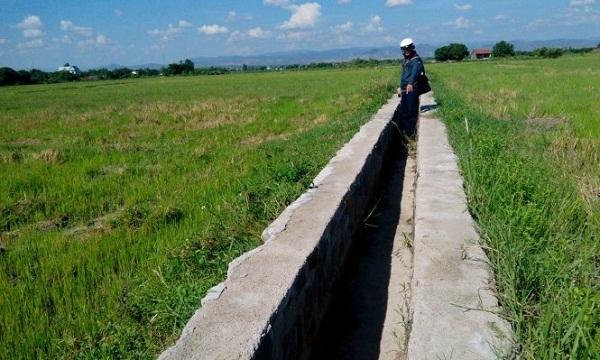 Kênh nội đồng tại xã Ia Peng, huyện Phú Thiện xây dựng sơ sài - Ảnh: T.B.D.