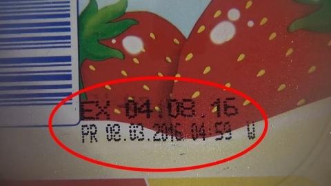 Dấu hiệu chị V. nghi Kids Plaza tẩy date nhằm tiêu thụ sữa.