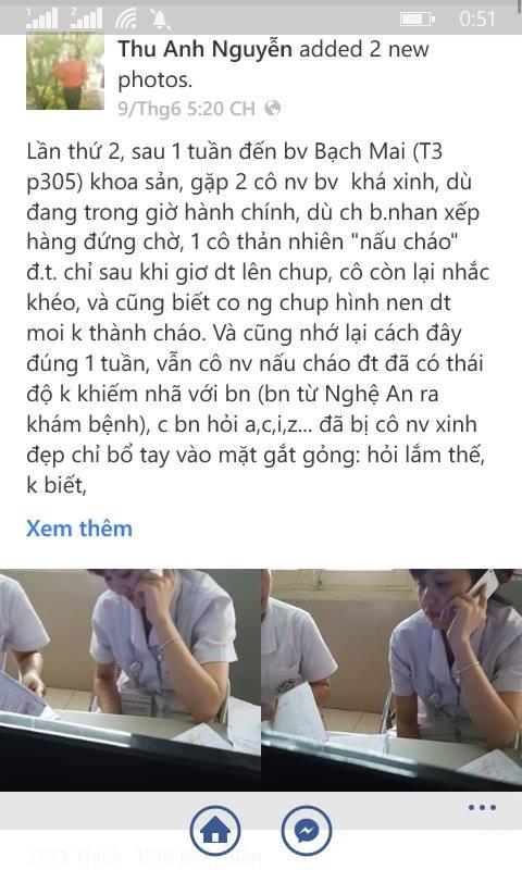 Dòng trạng thái của Facebooker Thu Anh Nguyễn thu hút đống đảo sự chú ý của dân mạng.Ảnh: FBNV.