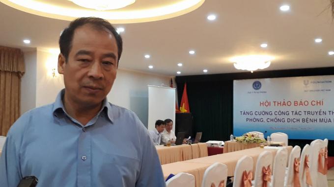Ông Trần Đắc Phu, Cục trưởng Cục Y tế Dự phòng