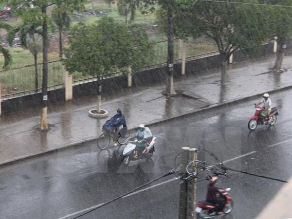 Hà Nội sẽ có mưa rào và giông đến hết ngày 17/8. Ảnh: minh họa/Nguồn: TTXVN