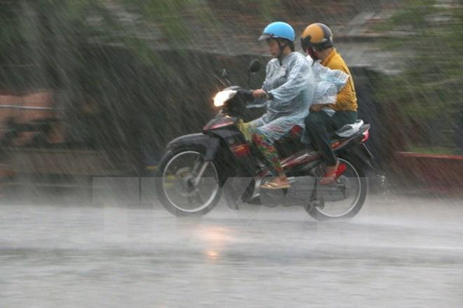 Ảnh hưởng của áp thấp nhiệt đới suy yếu, Bắc Bộ và Bắc Trung Bộ vẫn xuất hiện mưa giông. Ảnh: minh họa/Nguồn: TTXVN