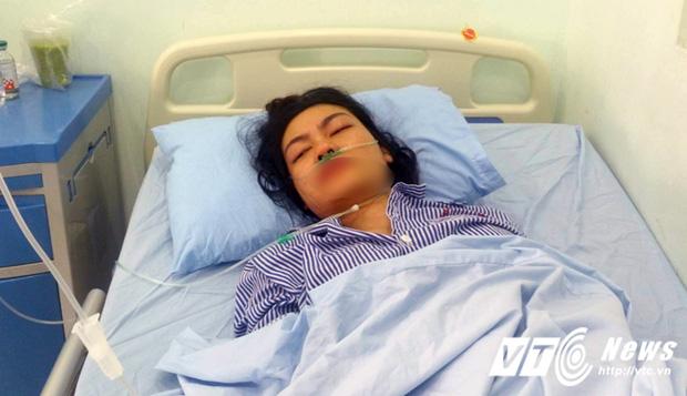 Chị P.T.H. đang được điều trị tại Bệnh viện Hữu nghị Việt Tiệp Hải Phòng. Ảnh: VTV News