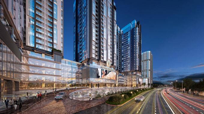 Tòa căn hộ cao cấp cũng nằm trên trục giao thông thuận lợi di chuyển tới sân bay, các tuyến phố lớn trung tâm